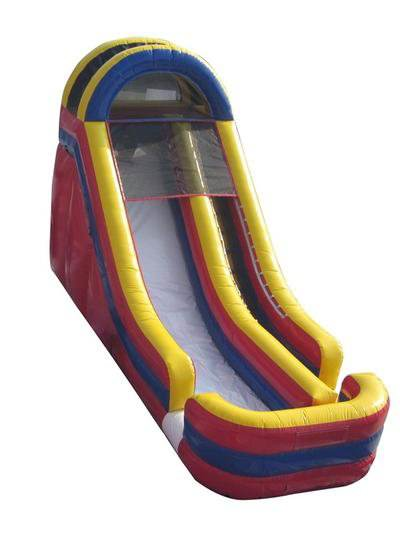 Inflatable slide-single lane