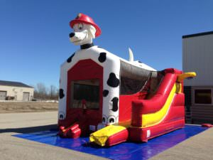 Dalmatian bounce house combo rental