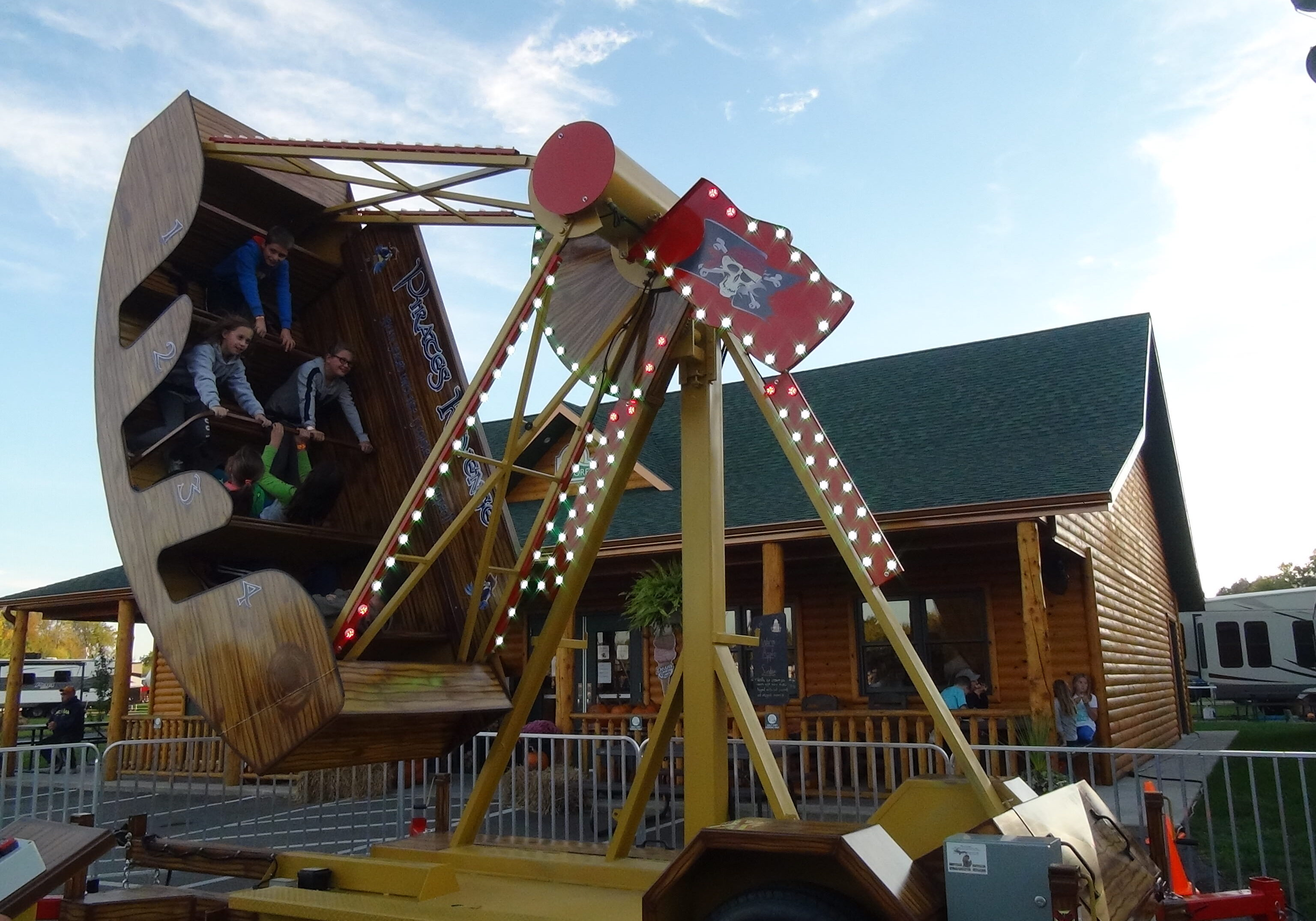 kids riding pirates revenge ride
